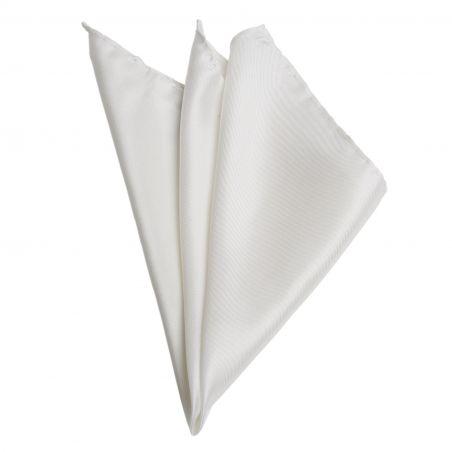 White Twill Silk Pocket