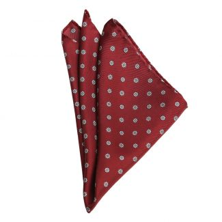 L. Biagiotti Burgundy Pattern Silk Pocket