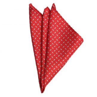 L. Biagiotti Grey Rhombus on Red Silk Pocket