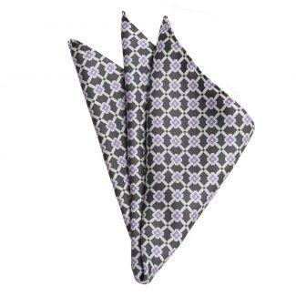 L. Biagiotti Grey Square Silk Pocket
