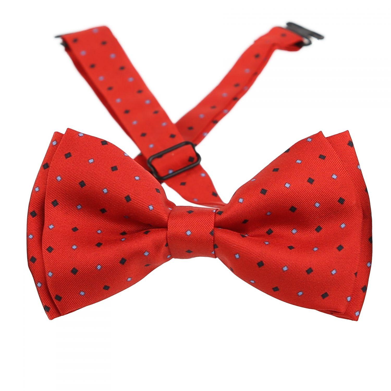 London Men Red Silk Bow Tie