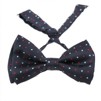 London Men Navy Silk Bow Tie