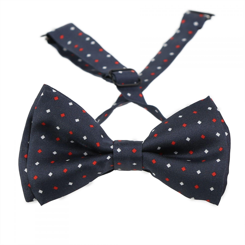 London Men Navy Silk Bow Tie