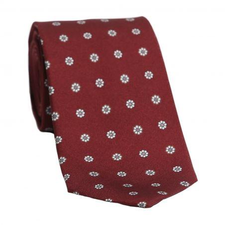 L. Biagiotti silk tie Burgundy pattern