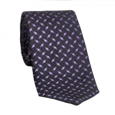 L. Biagiotti silk tie Violet Rhombus on Navy