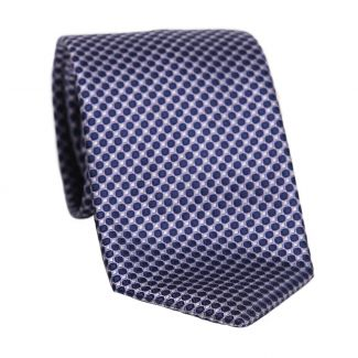 L. Biagiotti silk tie Firenze navy thistle circles