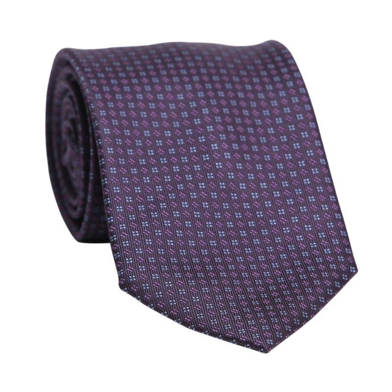 Cravata matase L. Biagiotti Trieste dark mauve