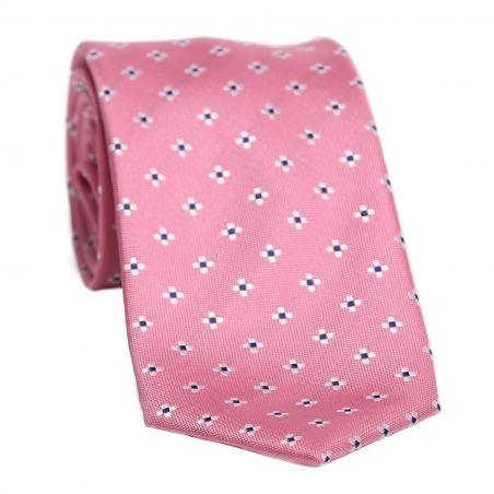 L. Biagiotti silk tie Amalfi very light raspberry