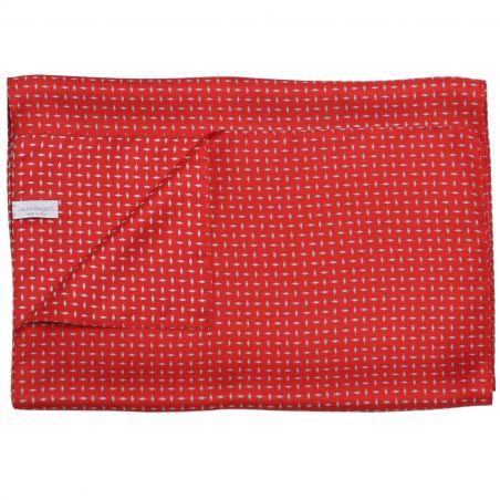 L. Biagiotti silk tie Grey Rhombus on Red