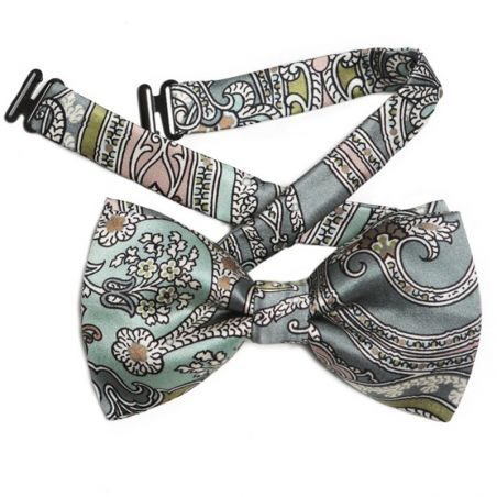 My Privilege Olive Silk Bow Tie