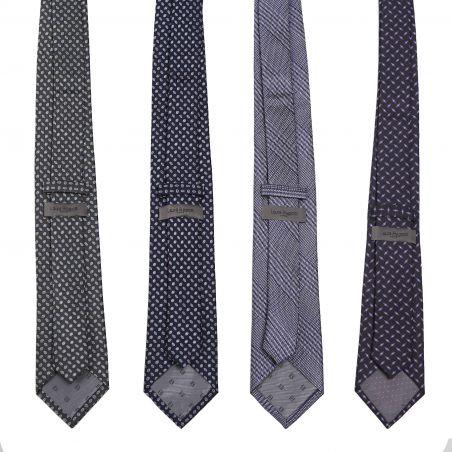 L. Biagiotti silk tie Milano navy pattern