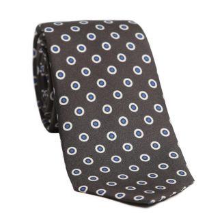 Cadou: Cravata si batista matase cercuri albe pe gri