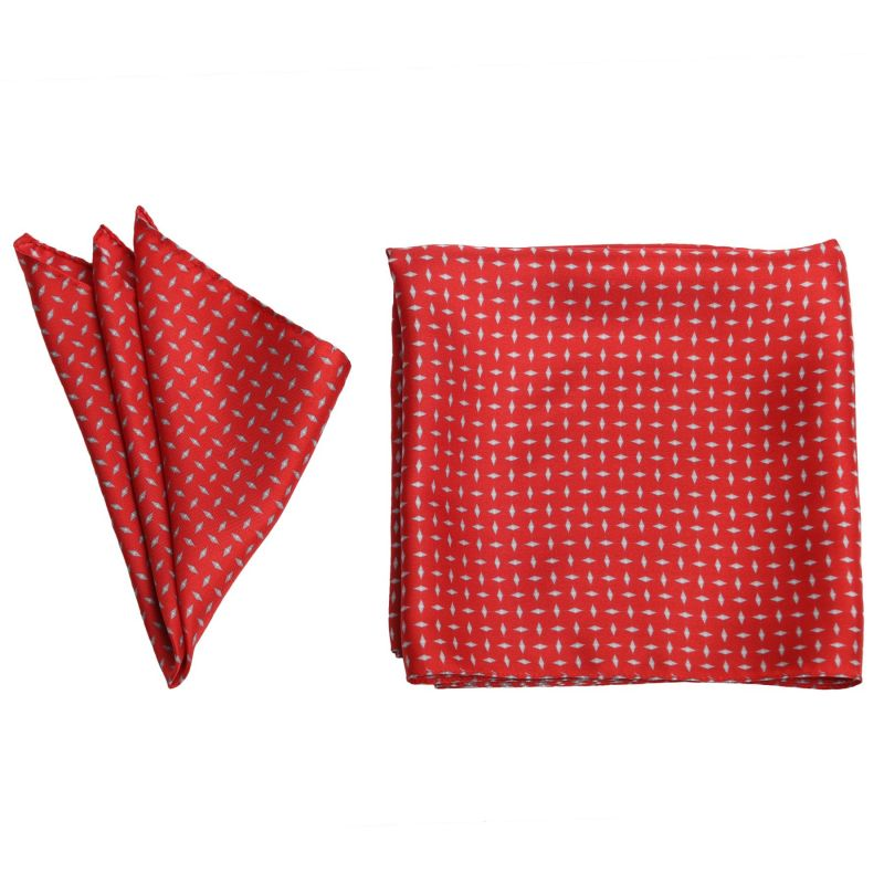 Gift: L. Biagiotti silk scarf and pocket square Men's Party red