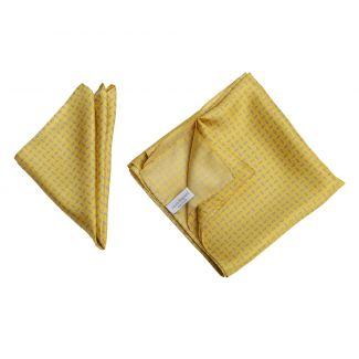 Gift: L. Biagiotti silk scarf and pocket square Men's Party yellow