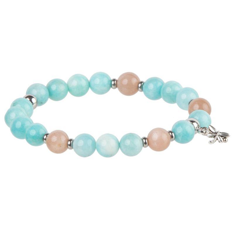 Amazonite and Sunstone bracelet
