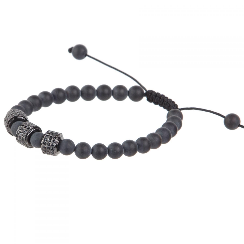 Onyx and Black Rhinestone bracelet
