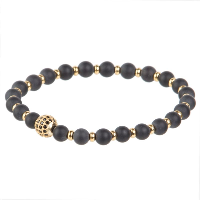 Matte Onyx with Black rhinestone and golden discs