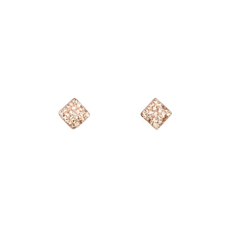 Zirconia Light Pink silver earrings