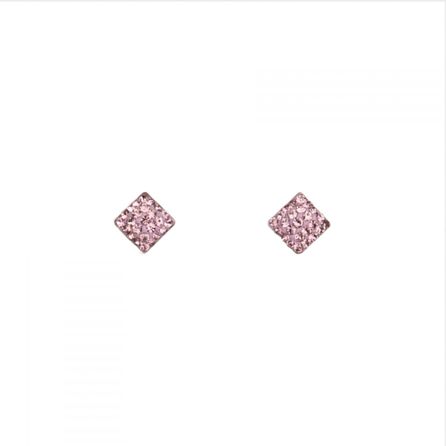 Zirconia Light Mauve silver earrings