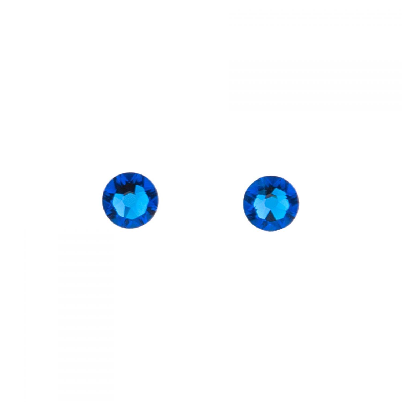Swarovski Capri Blue silver earrings