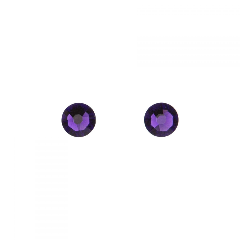 Swarovski Purple Velvet silver earrings