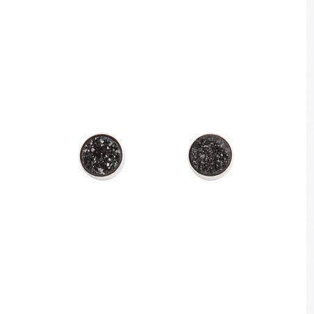 Black Dress Agate silver earrings