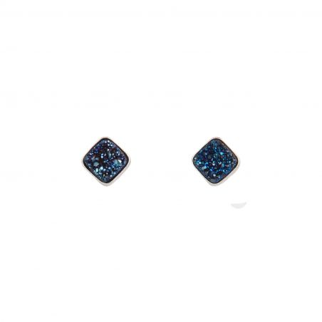 Blue Night Agate silver earrings