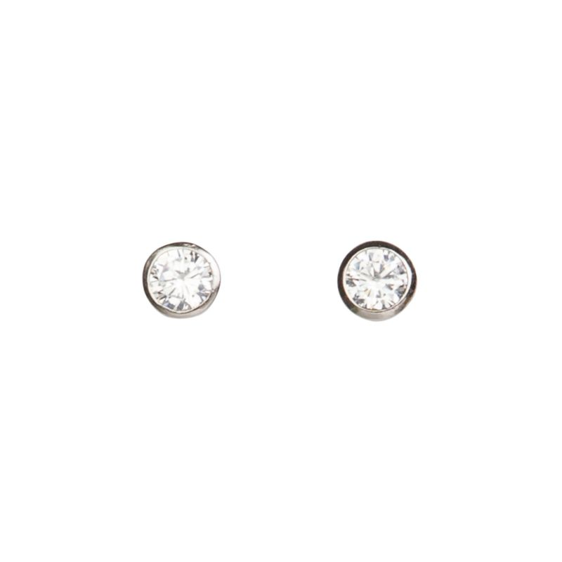 Zirconia Briliant Look silver earrings