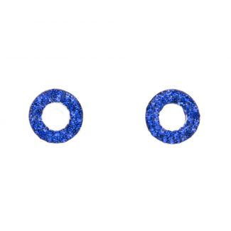 Zirconia Electric Blue silver earrings
