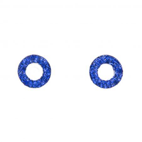 Cercei argint Zirconia Electric Blue