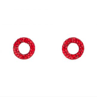 Zirconia Red Red silver earrings