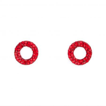 Zirconia Red Red silver earrings