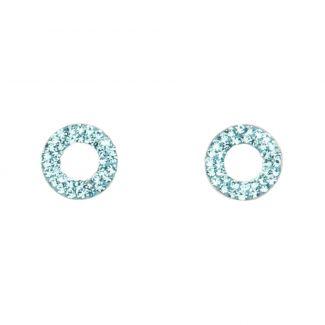 Cercei argint Zirconia Blue Eyes