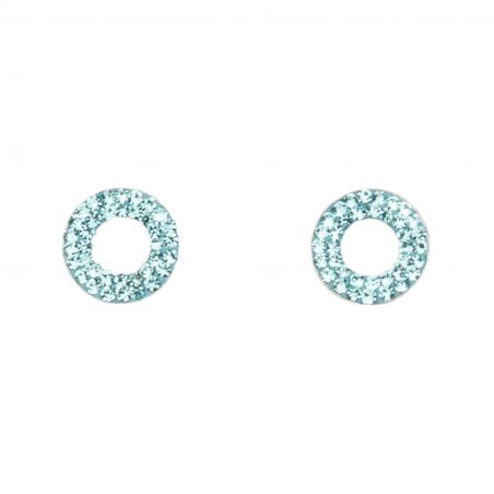Zirconia Blue Eyes silver earrings