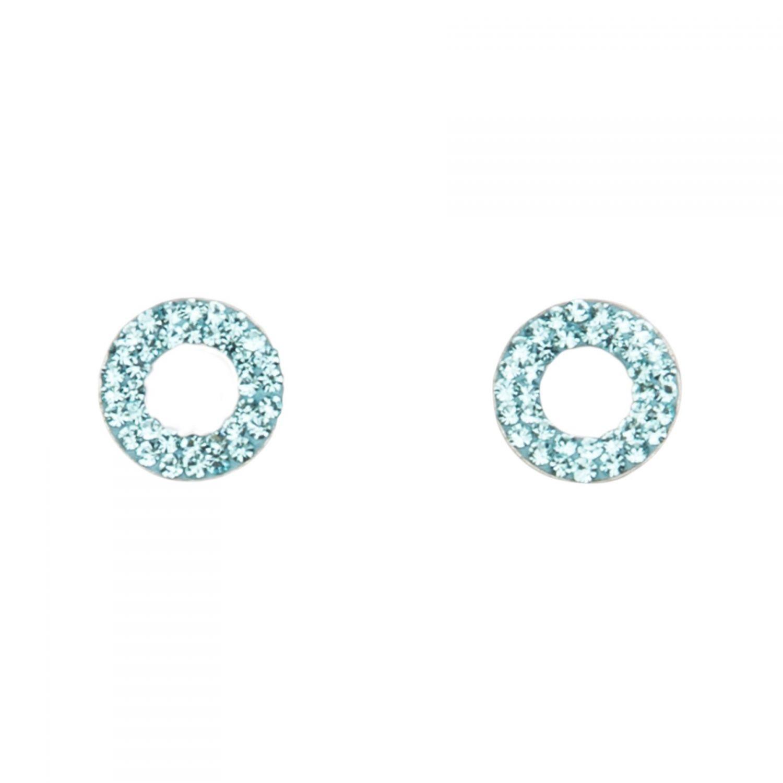 Zirconia Blue Eyes silver earrings