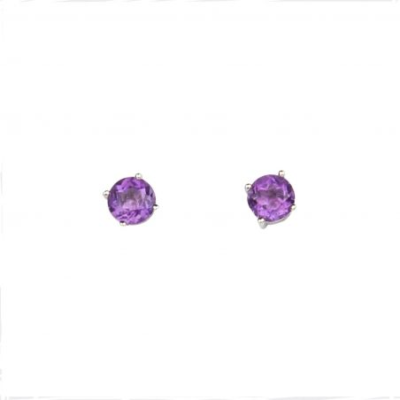 Amethyst High Quality silver earrings