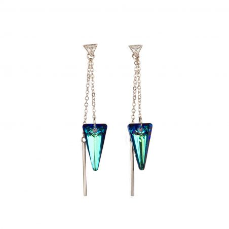 Swarovski Bermuda Blue silver earrings
