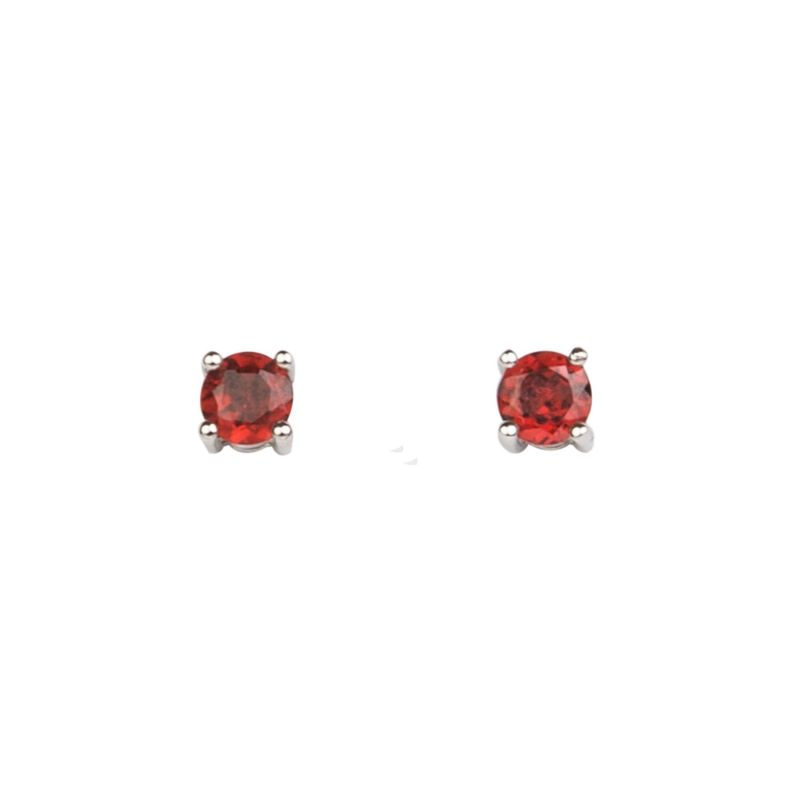 Garnet High Quality silver earrings