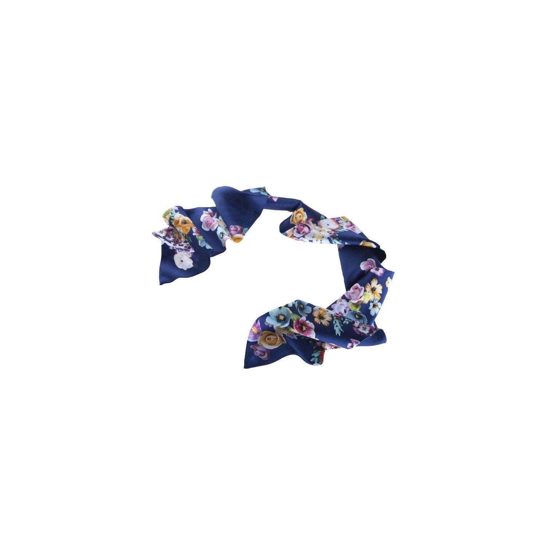 Eşarfă albastru buchet de flori