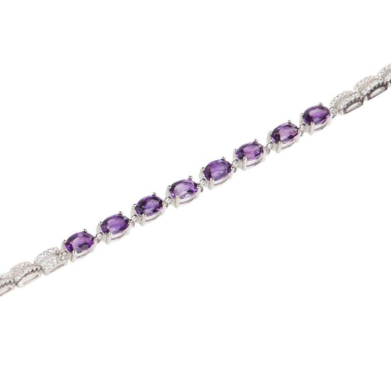 Amethyst High Quality silver bracelet
