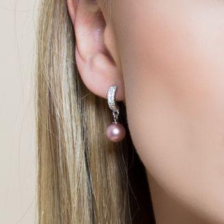 Cercei argint Swarovski Lovely Pearls