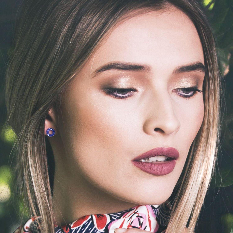 Zirconia Electric Blue silver earrings