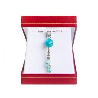 Agat Turcoise silver jewelry set
