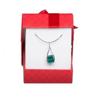 Set bijuterii argint Swarovski Emerald
