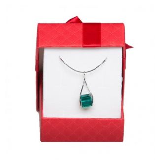 Swarovski Emerald silver jewelry set