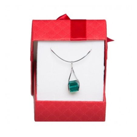 Swarovski Emerald silver jewelry set