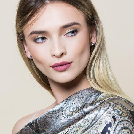 Morning Light Agate silver earrings