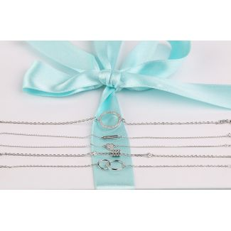 Until the Moon & Back silver jewelry set