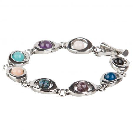 Mixed gemstone beads bracelet