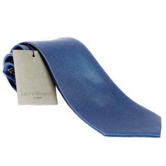 Silk Tie blue uni Laura Biagiotti